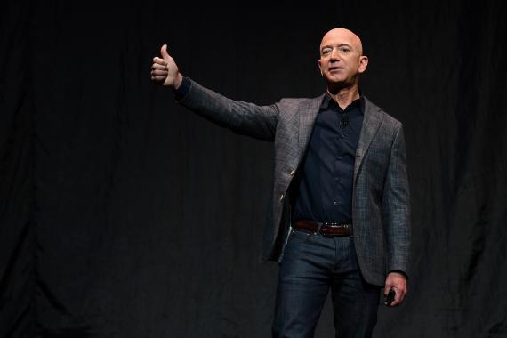 Jeff Bezos, ex consejero delegado de Amazon, durante un evento.