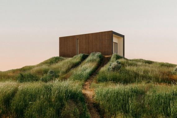 Liten, es la casa prefabricada de turismo rural de la startup Onarc, que nació en la Lanzadera de Juan Roig.