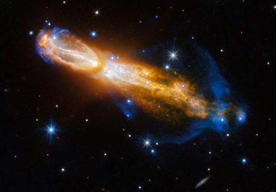 Imagen de la Nebulosa de la Calabaza, tomado el 3 de febrero de 2017, por la NASA.