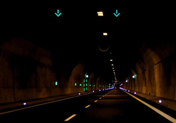Túnel de una carretera.