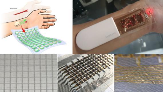 Prototipo de dispositivo portátil de monitoreo de salud Samsung SAIT.
