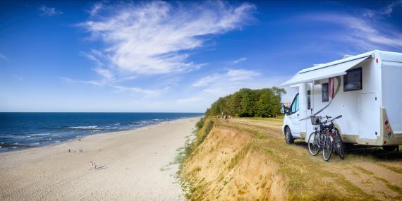 Autocaravana camper playa