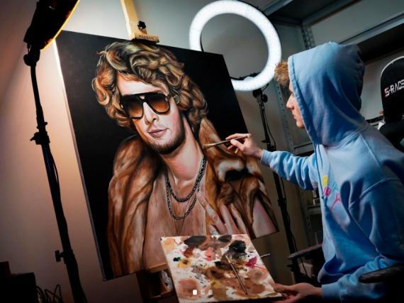 El artista Ben Labuzzetta.