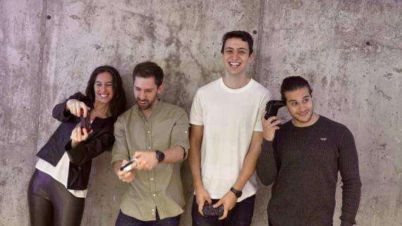 Los fundadores de Cloudware. De izquierda a derecha: Begoña Fernández-Cid, Alejandro Rodríguez, Daniel Olmedo y Alberto Manzano.