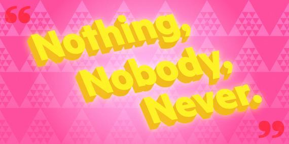 """El lema no oficial de YPO es """"Nada, nadie, nunca""""."""