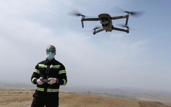 Drones que vigilan el tráfico de la DGT