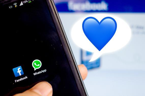 Emoji del corazón azul