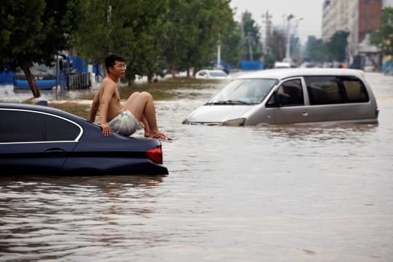 Inundaciones en Zhengzhou (China) en julio de 2021.