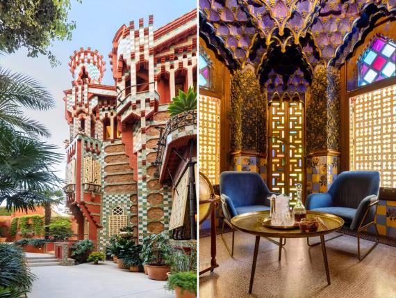 Casa Vicens, una casa de verano en Barcelona diseñada por Antoni Gaudí.