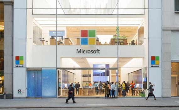 La Microsoft Store de Nueva York.