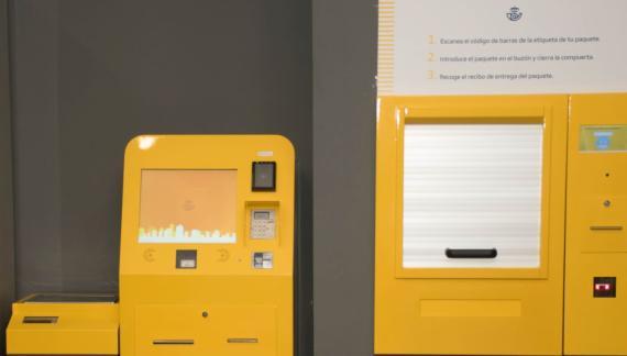Las nuevas máquinas autoservicio para envío de paquetes de Correos