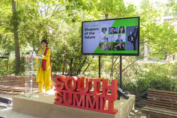 María Benjumea, confundadora y consejera delegada de South Summit, explica cómo será la edición de 2021 en Madrid este lunes.
