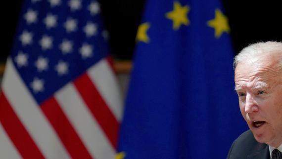 El presidente de EEUU, Joe Biden, durante una cumbre bilateral con la UE en Bruselas