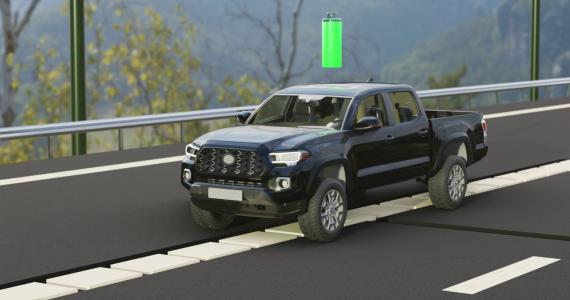 Proyecto de carretera de carga eléctrica sin contacto de la empresa alemana Magment. Magment.