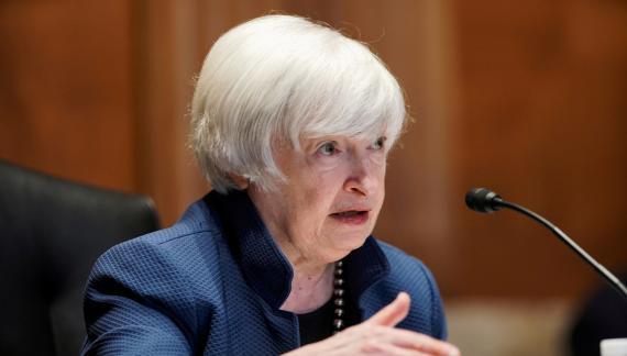 La secretaria estadounidense del Tesoro, Janet Yellen.