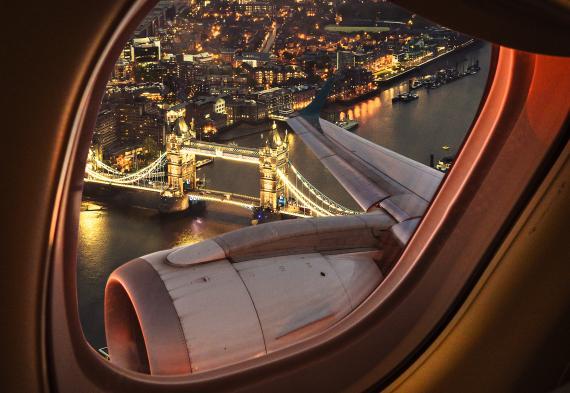 Ventana de un avión