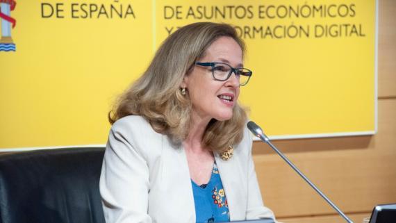 Nadia Calviño, vicepresidenta primera del Gobierno y ministra de Asuntos Económicos y Transformación Digital.