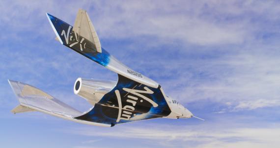 La aeronave Unity de la compañía Virgin Gallactic