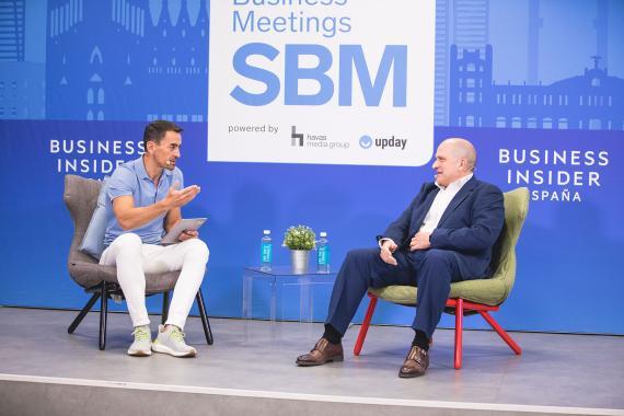 Manuel del Campo, consejero delegado de Axel Springer España y Javier Ribera, director general de Negocios de Grupo Pascual.
