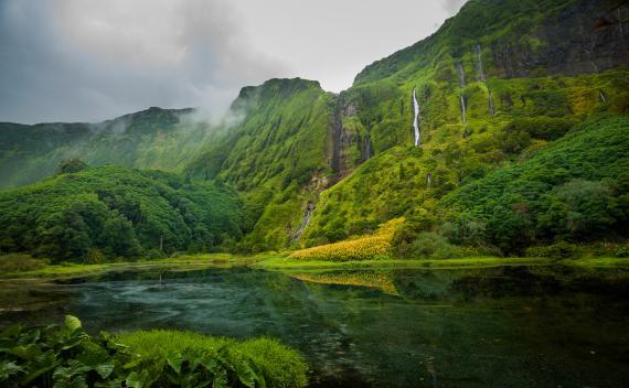 Isla Flores en Azores, Portugal.