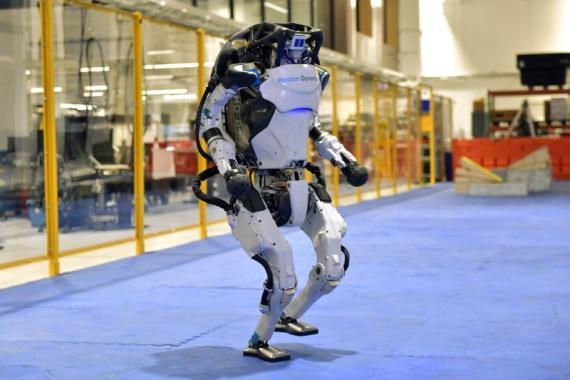 Un robot Atlas de la compañía Boston Dynamics.