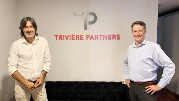El socio de Trivière Partners Ismael Durán junto al CEO y fundador de la consultora, Sebastian Trivière.