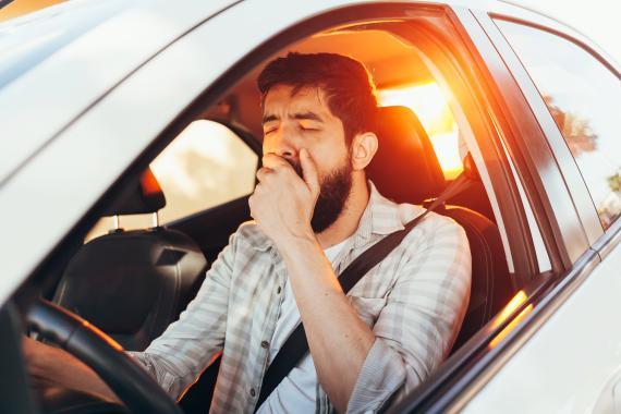 Un conductor con sueño