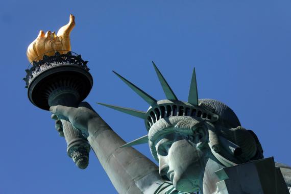 Estatua de la Libertad en Nueva York.