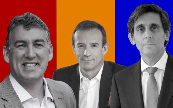 De izq a dcha: Colman Deegan, Jean-François, José María Álvarez-Pallete Fallacher,