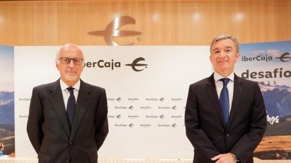 José Luis Aguirre, presidente de Ibercaja, y Víctor Iglesias, consejero delegado de la entidad.