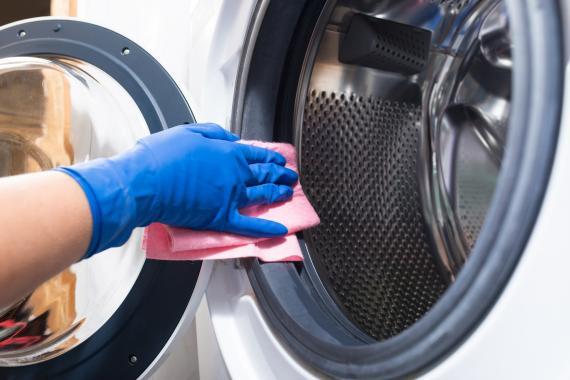Limpiar la goma de la lavadora