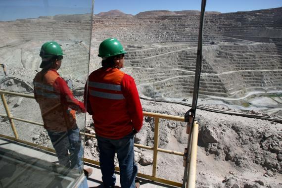 Mina de cobre Escondida, la mayor del mundo, ubicada en la región chilena de Antofagasta.