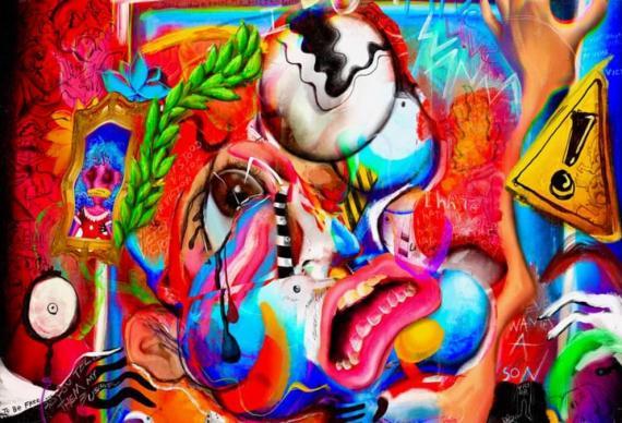 Obra de arte digital del artista Fewocious.