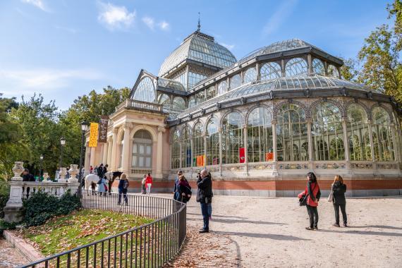 Palacio de Cristal, Parque El Retiro, Madrid.