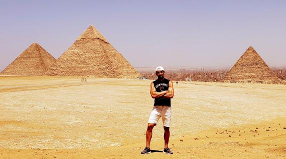 Las Pirámides de Guiza durante el pasado mes de julio, sin apenas turistas
