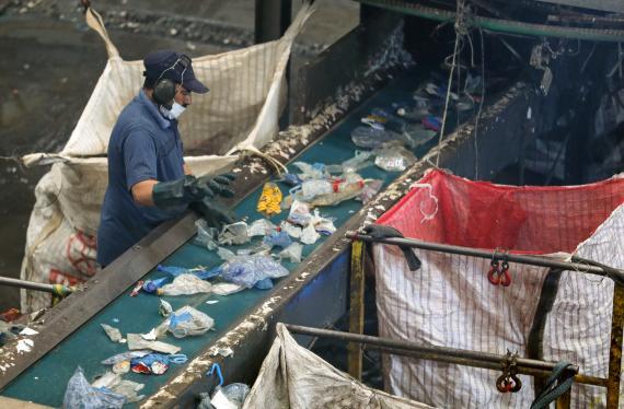 Planta de reciclaje de plástico