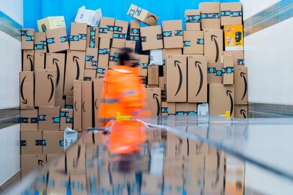 Repartidores de paquetes de Amazon