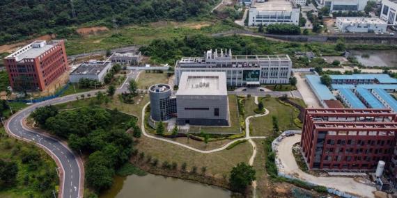 Vista aérea del Instituto de Virología de Wuhan (China).