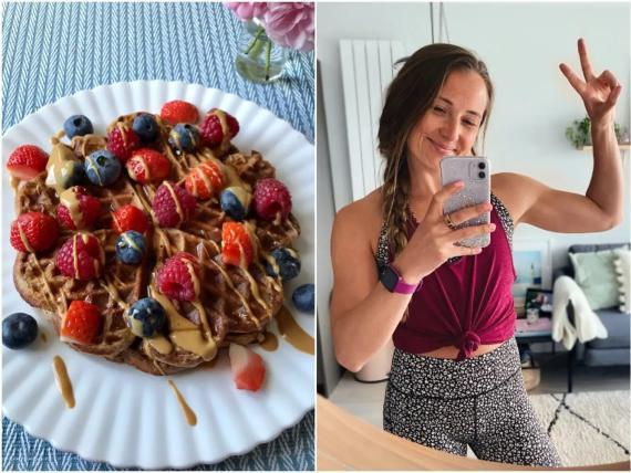 Los postres como los gofres de proteínas me ayudaron a ponerme en forma. Rachel Hosie.