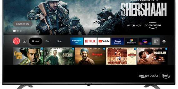 Una captura de pantalla del televisor que Amazon vende en la India desde finales de 2020.