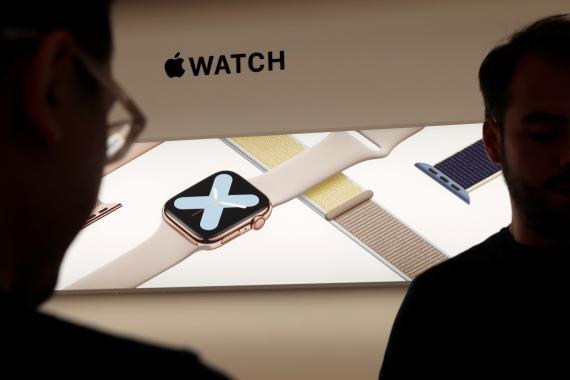 Un Apple Warch en una tienda de Apple