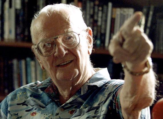 Arthur C. Clarke, en su casa de Sri Lanka, en una imagen de 2002.