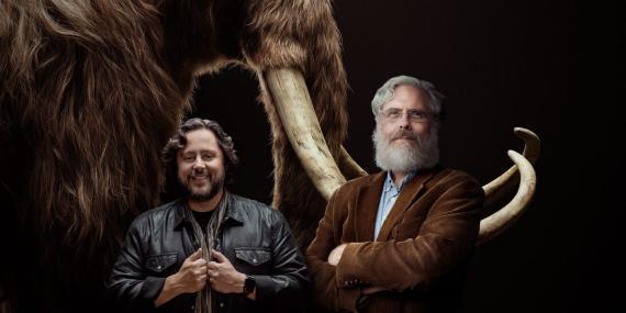 El consejero delegado de Colossal, Ben Lamm, y el cofundador de la empresa George Church.