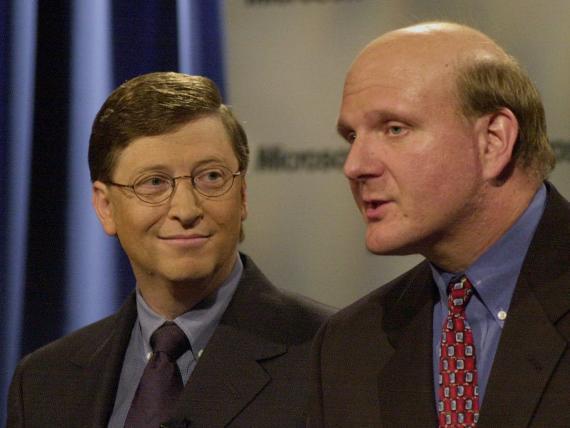 Bill Gates (izquierda) y Steve Ballmer.
