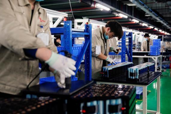 Fábrica de baterías para coches eléctricos en Hefei (China)