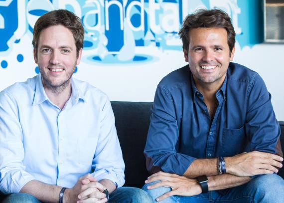 Felipe Navío (i) y Juan Urdiales (d), cofundadores de Jobandtalent.