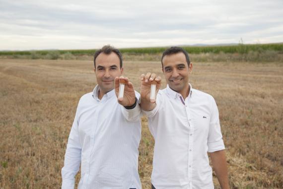 Alberto Acedo (izquierda) y Adrián Ferrero, fundadores de Biome Makers.