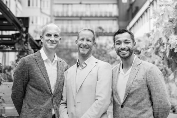 Fundadores de GP Bullhound: Hugh Campbell, Per Roman y Manish Madhvani