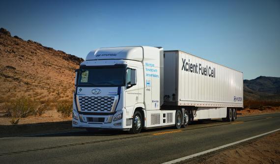 El modelo eléctrico XCIENT Fuel Cell de Hyundai.