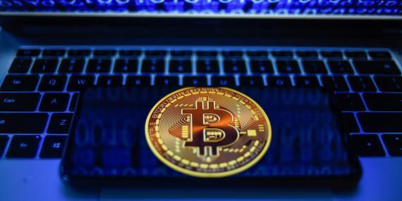 Representación de un bitcoin. Getty